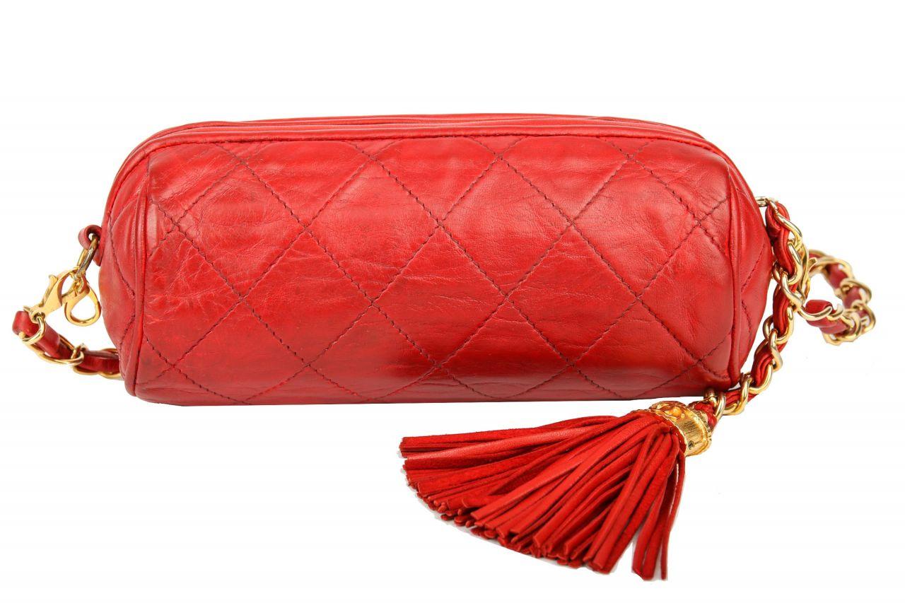 Chanel vintage Umhänge-/Bauchtasche Rot