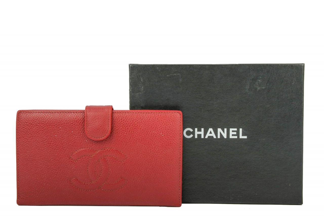 Chanel Portmonee weinrot