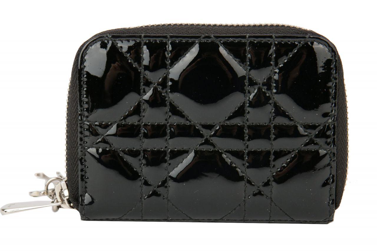 Dior Portemonnaie Lackleder Schwarz