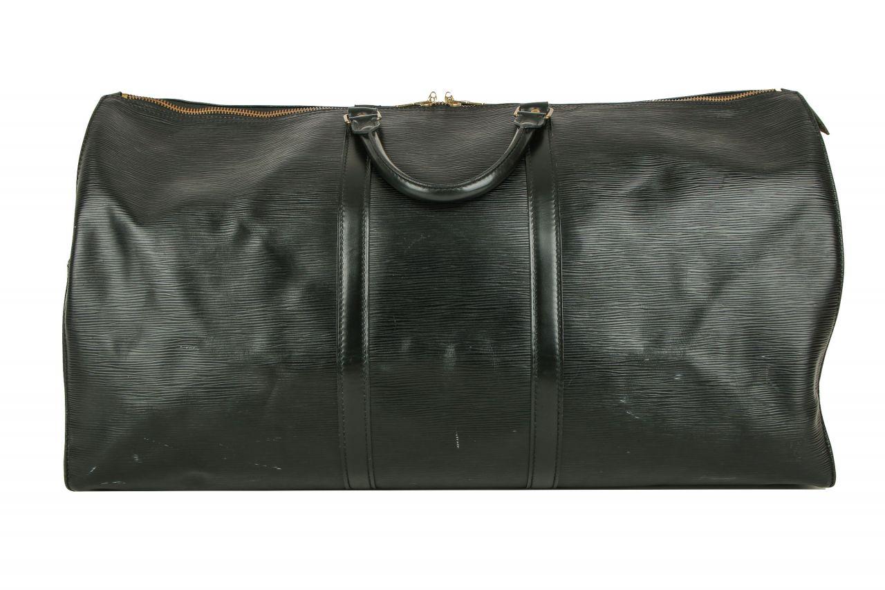 Louis Vuitton Keepall Epi Leder Schwarz