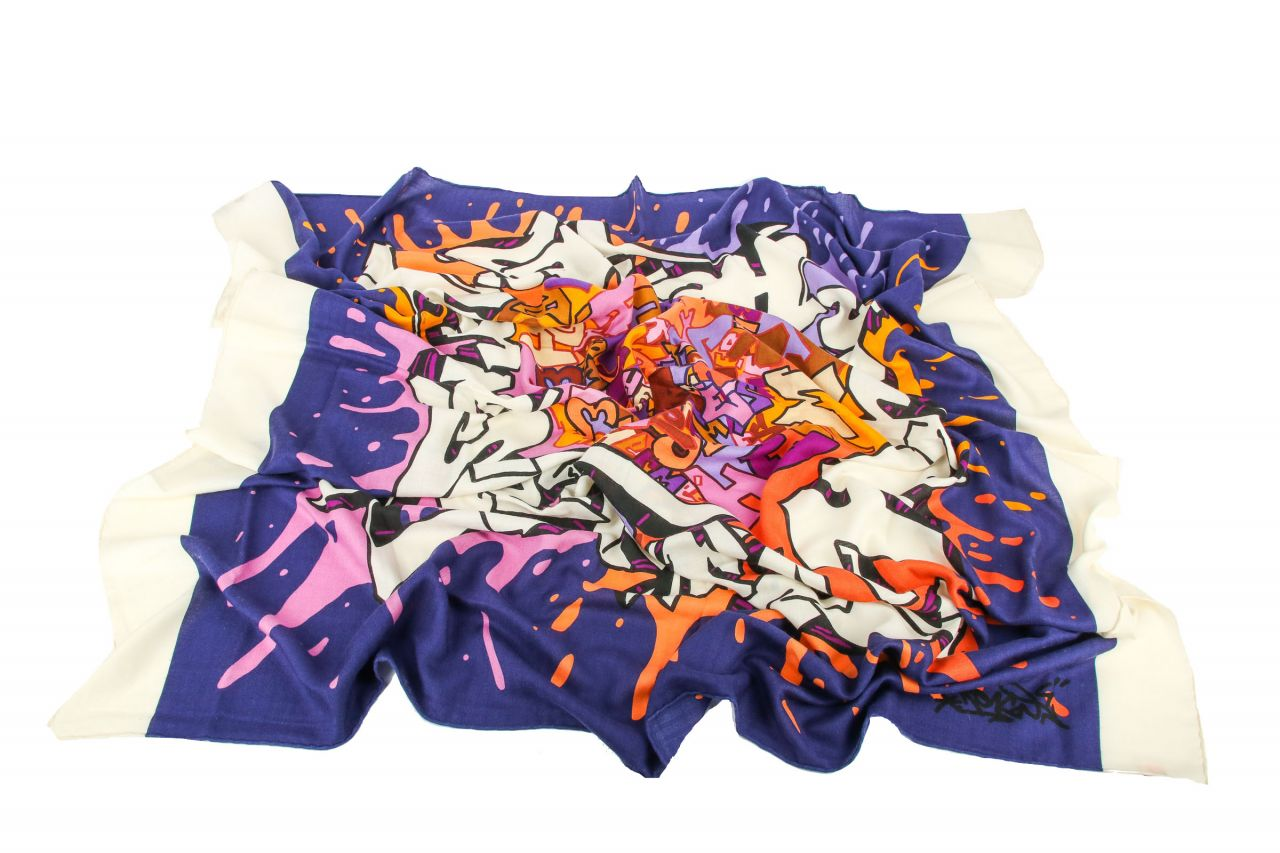 "Hermès Schal ""Graffiti"" Cashmere Seide 140x140cm"