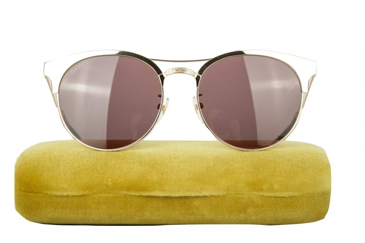 Gucci Sonnenbrille Empreinte Gold / Grün