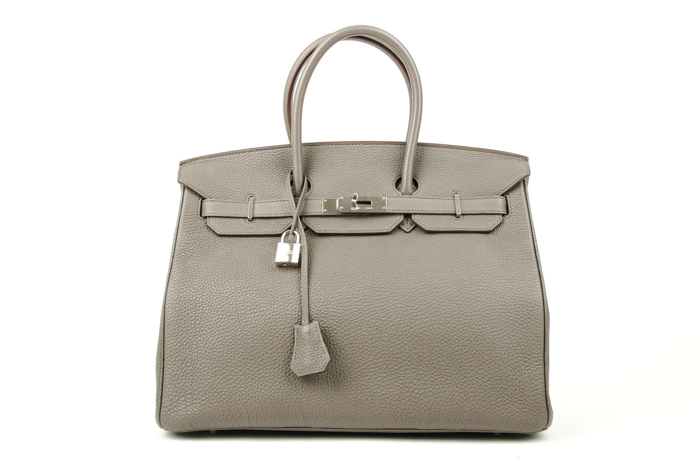 8f1b37d9a545 Hermès Birkin 35 Etain Togo leather