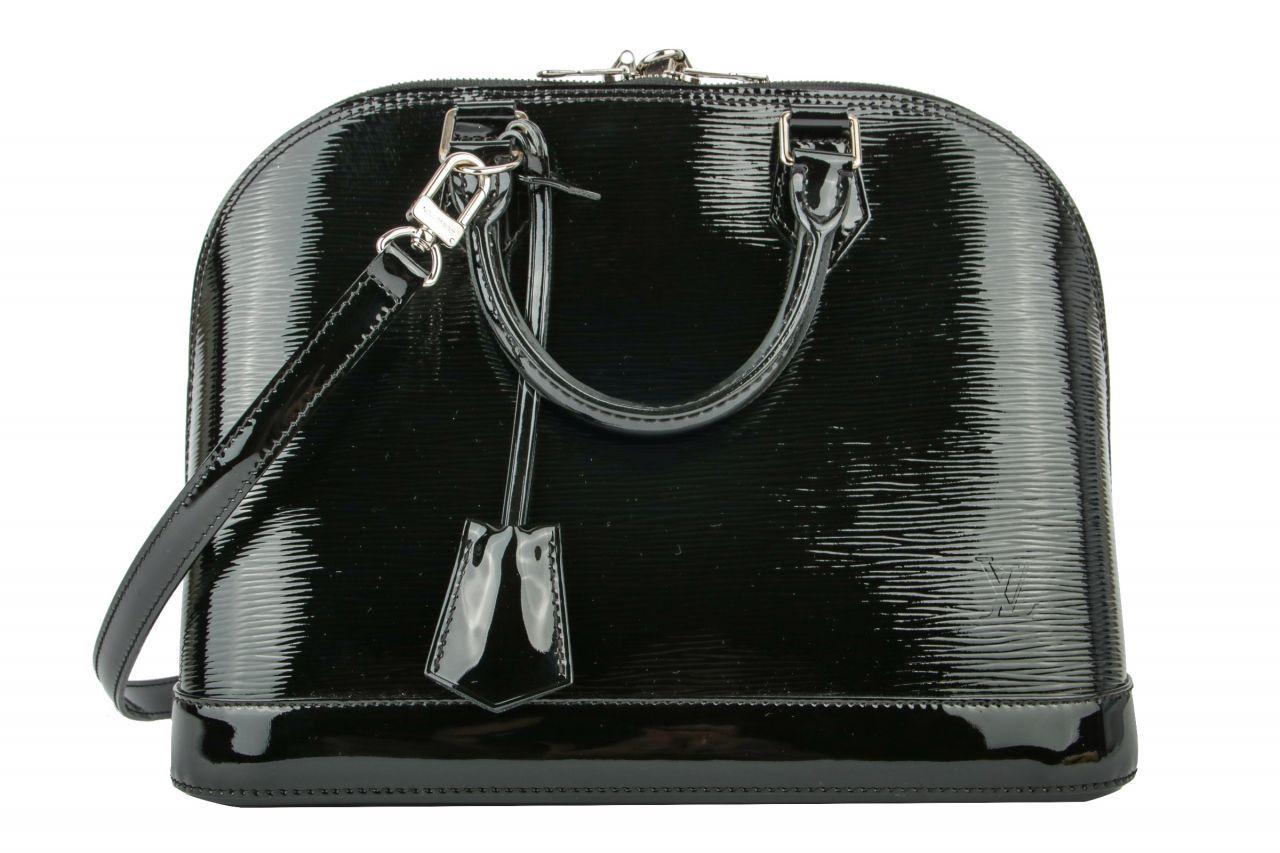 Louis Vuitton Alma PM Epi Lackleder Black