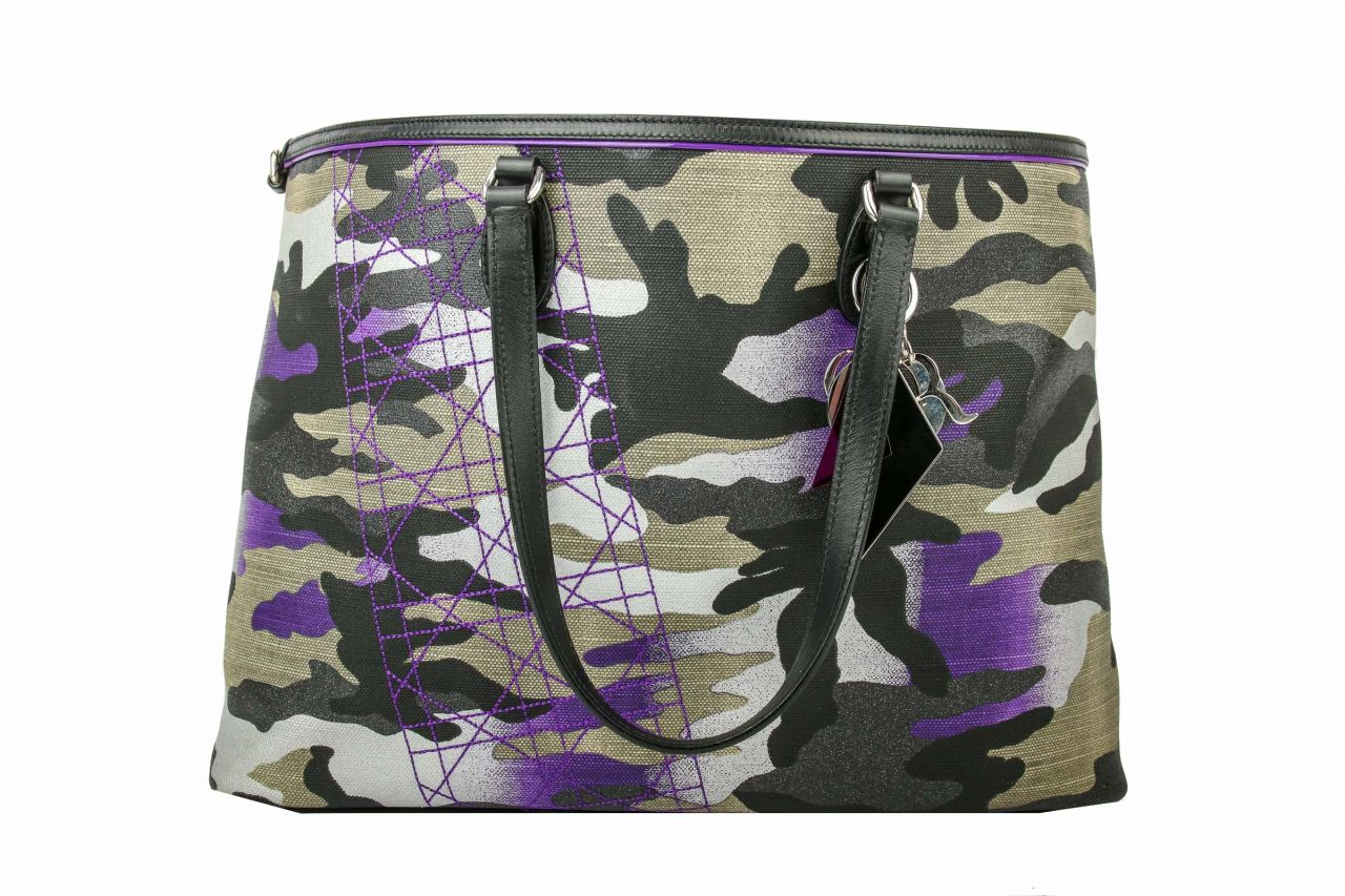 Christian Dior Open Tote Limited Edition Anslem Reyle Camouflage