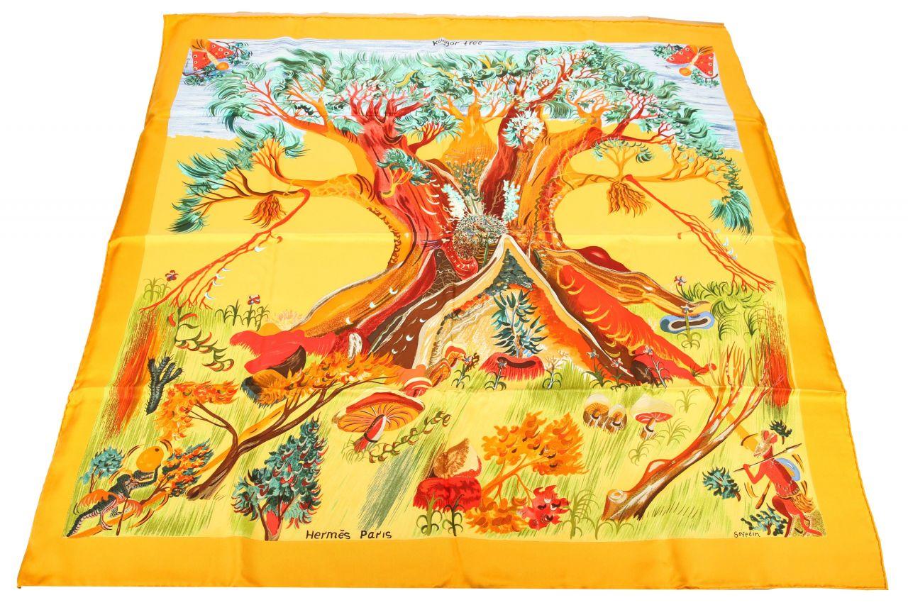 """Hermès Carré """"Kuggor tree"""" 90x90cm"""
