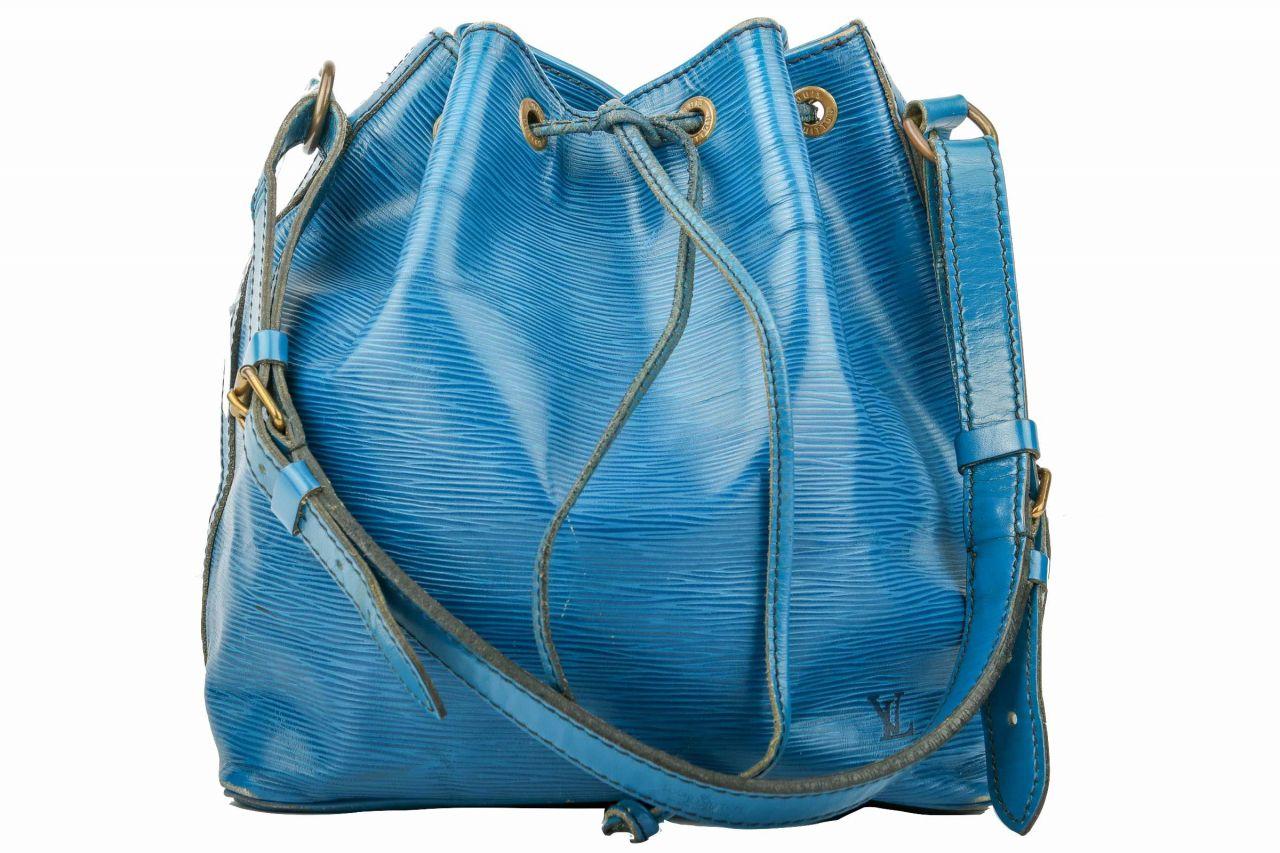 Louis Vuitton Sac Noé Petit Epi Leder Blau