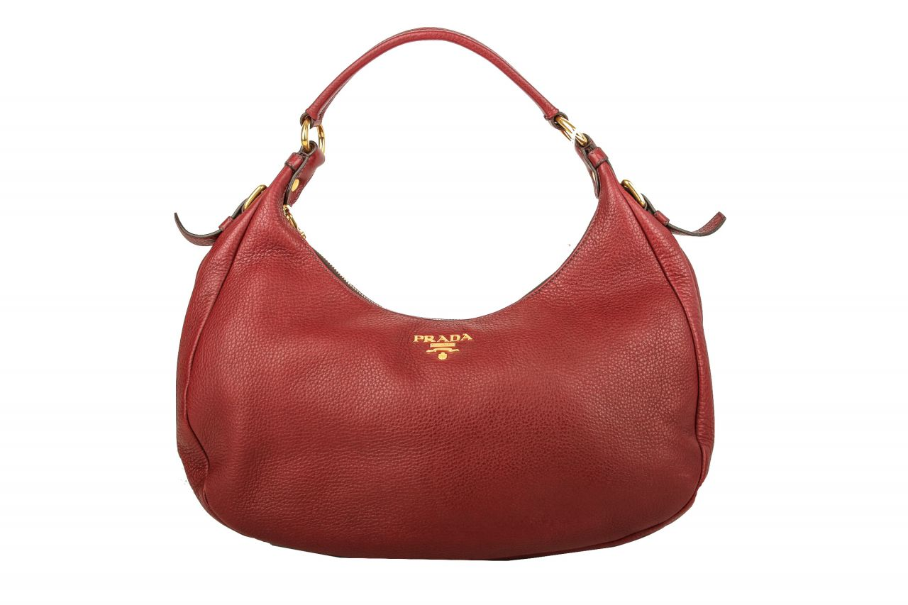 Prada Shoulder Bag Vitello Daino Rot