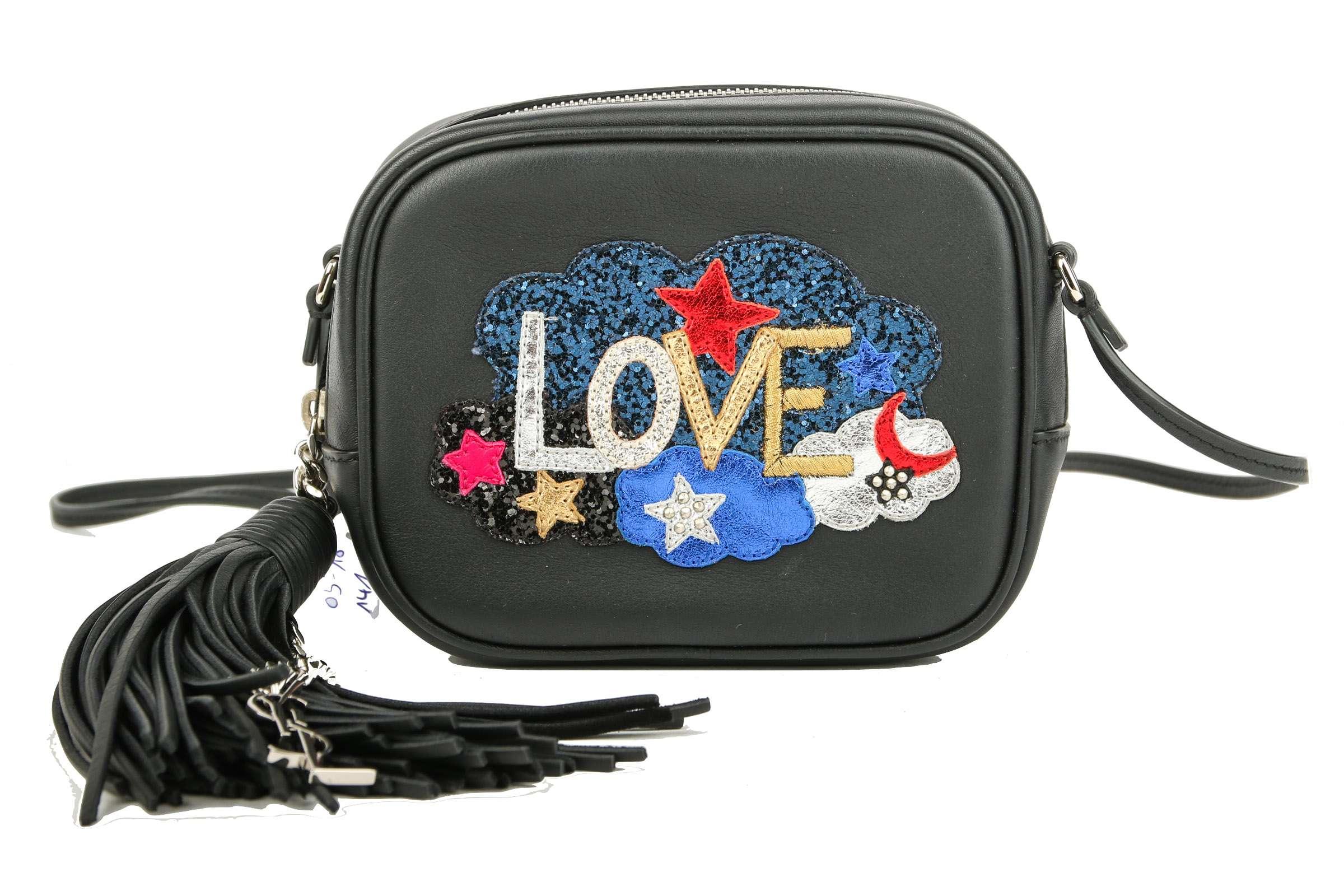 Saint Laurent Blogger Bag Love Patch Black