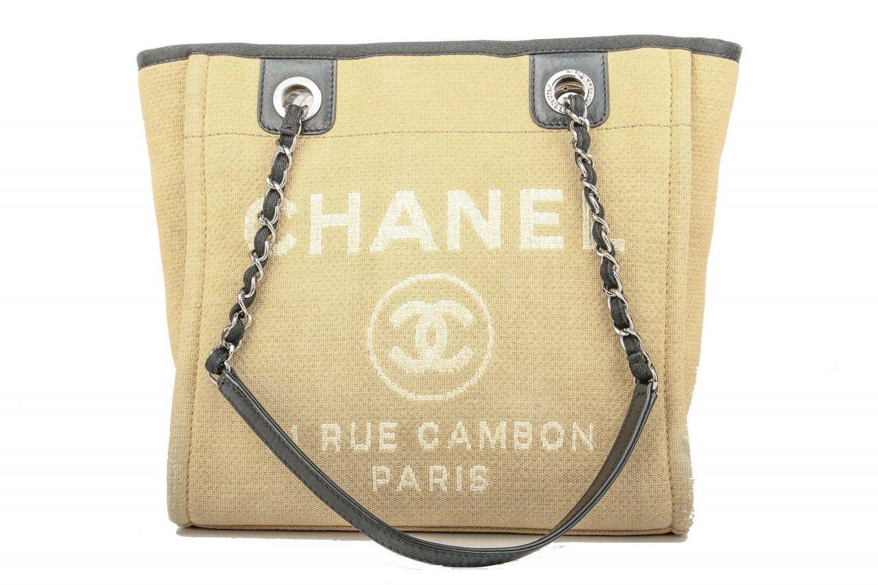 Chanel Deauville Tote Bag Small Ecru