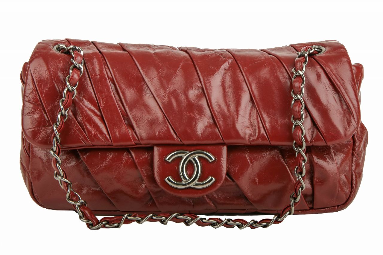 Chanel Crossbody Single Flap Bag Rot