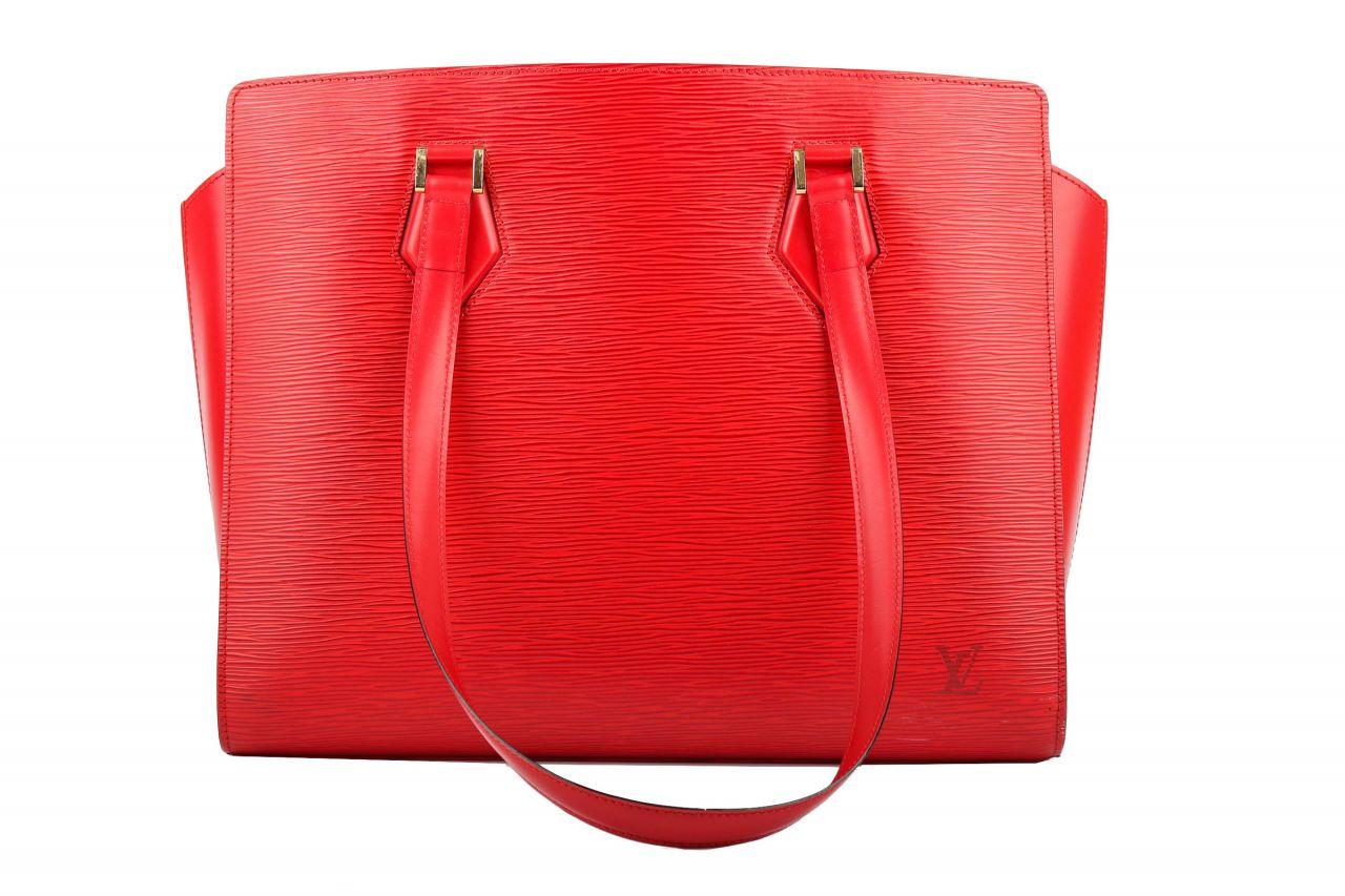 Louis Vuitton Duplex Epi Leder Rot