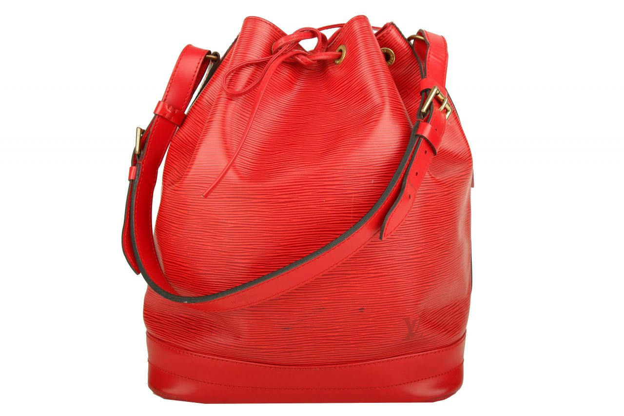 Louis Vuitton Sac Noé Grand Epi Leder Rot