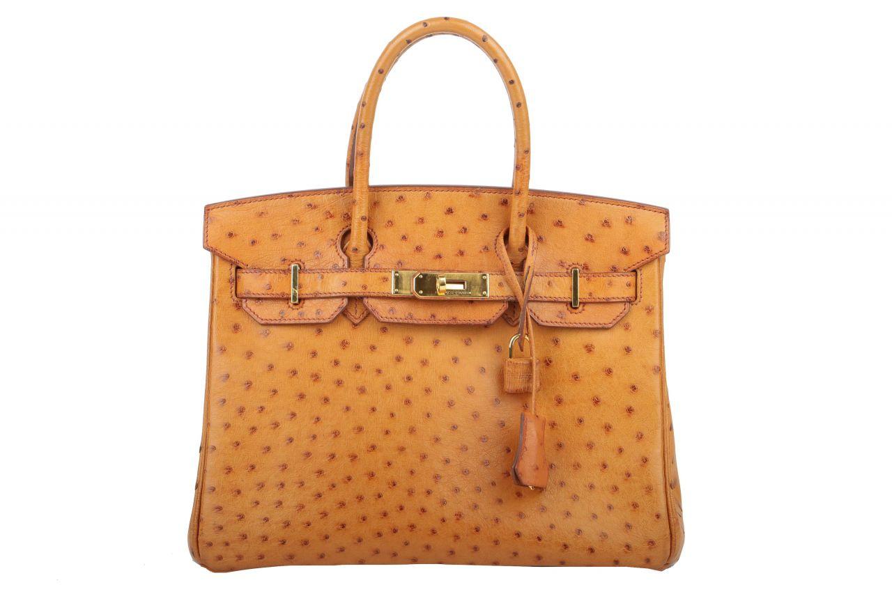 Hermès Birkin 30 Autruche Doublre Chevre Pigmen Gold