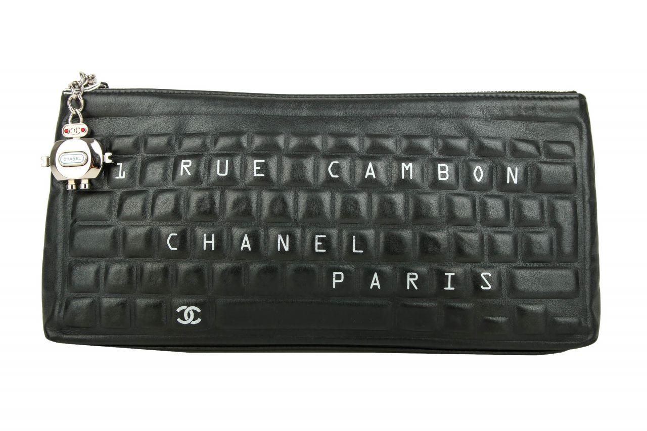 """Chanel """"31 Rue Cambon"""" Keyboard Clutch Black"""