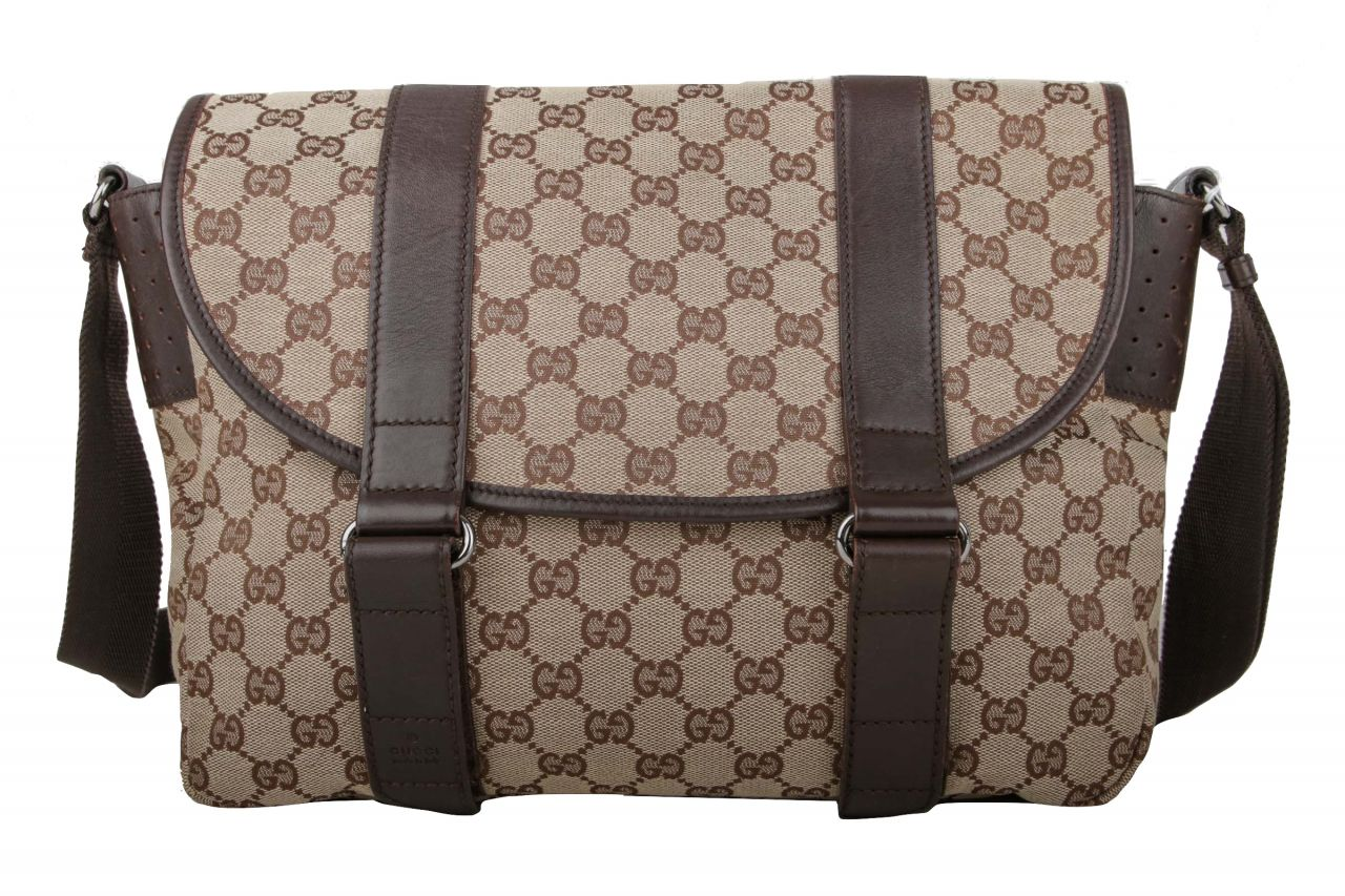 Gucci Messenger Bag Guccissima Canvas Braun