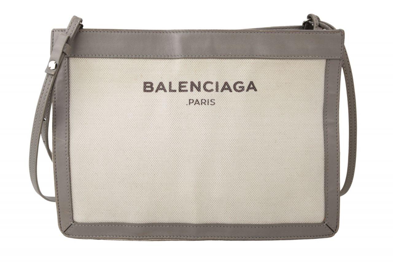 Balenciaga Schultertasche aus Canvas Grau
