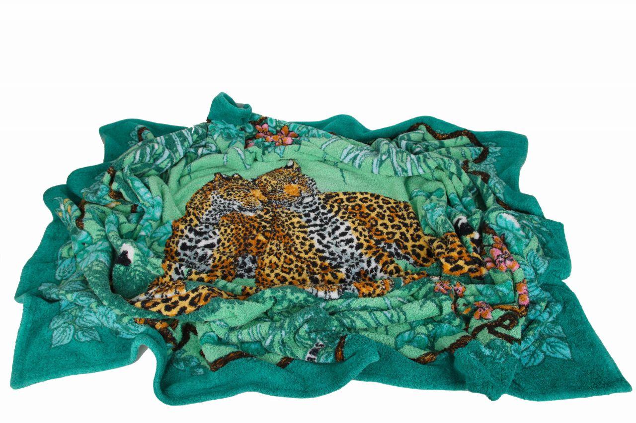Hermes Baumwolltuch Leoparden