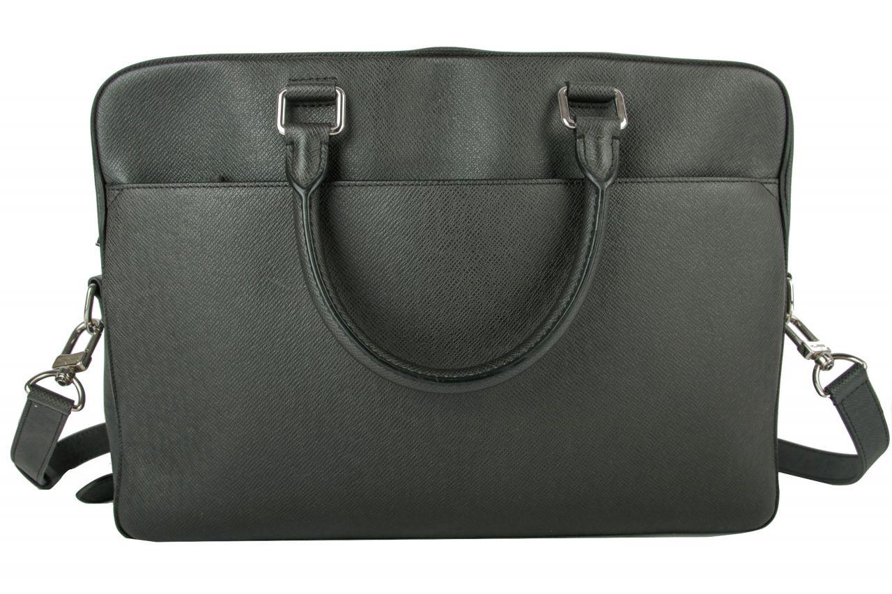 Louis Vuitton Aktentasche Taiga Leder Schwarz