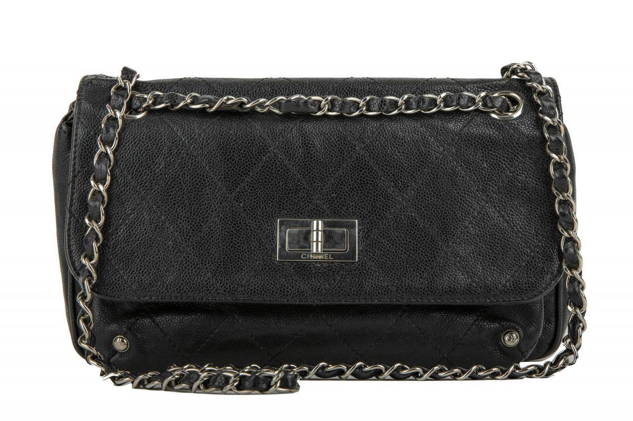 Chanel 2.55 Medium Bag Black