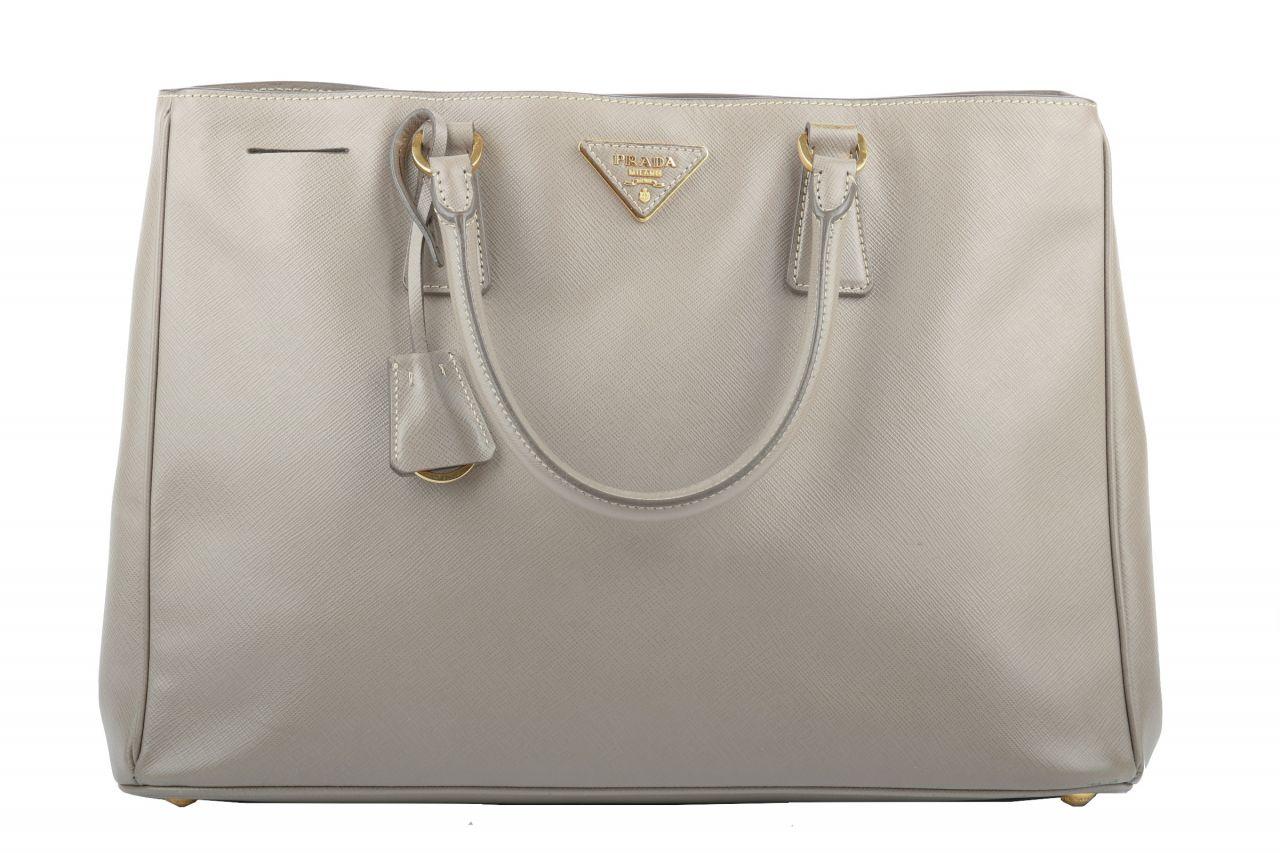 Prada Galleria Saffiano Bag Grau