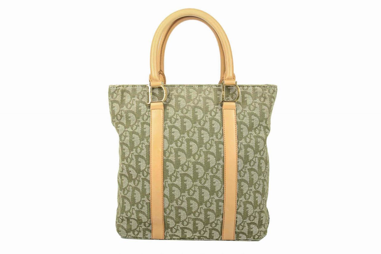 Dior Vintage Tote Bag Green