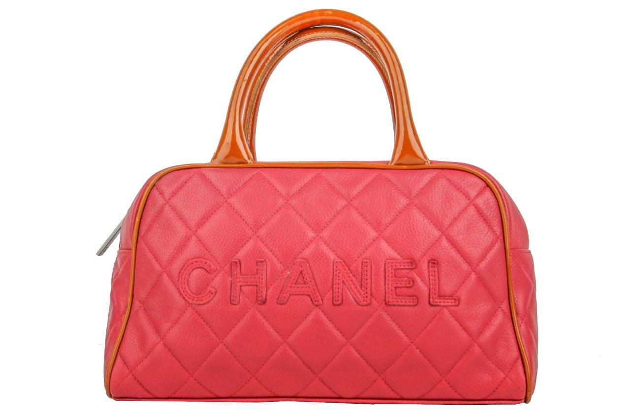 Chanel Mini Bowling Bag Rosé