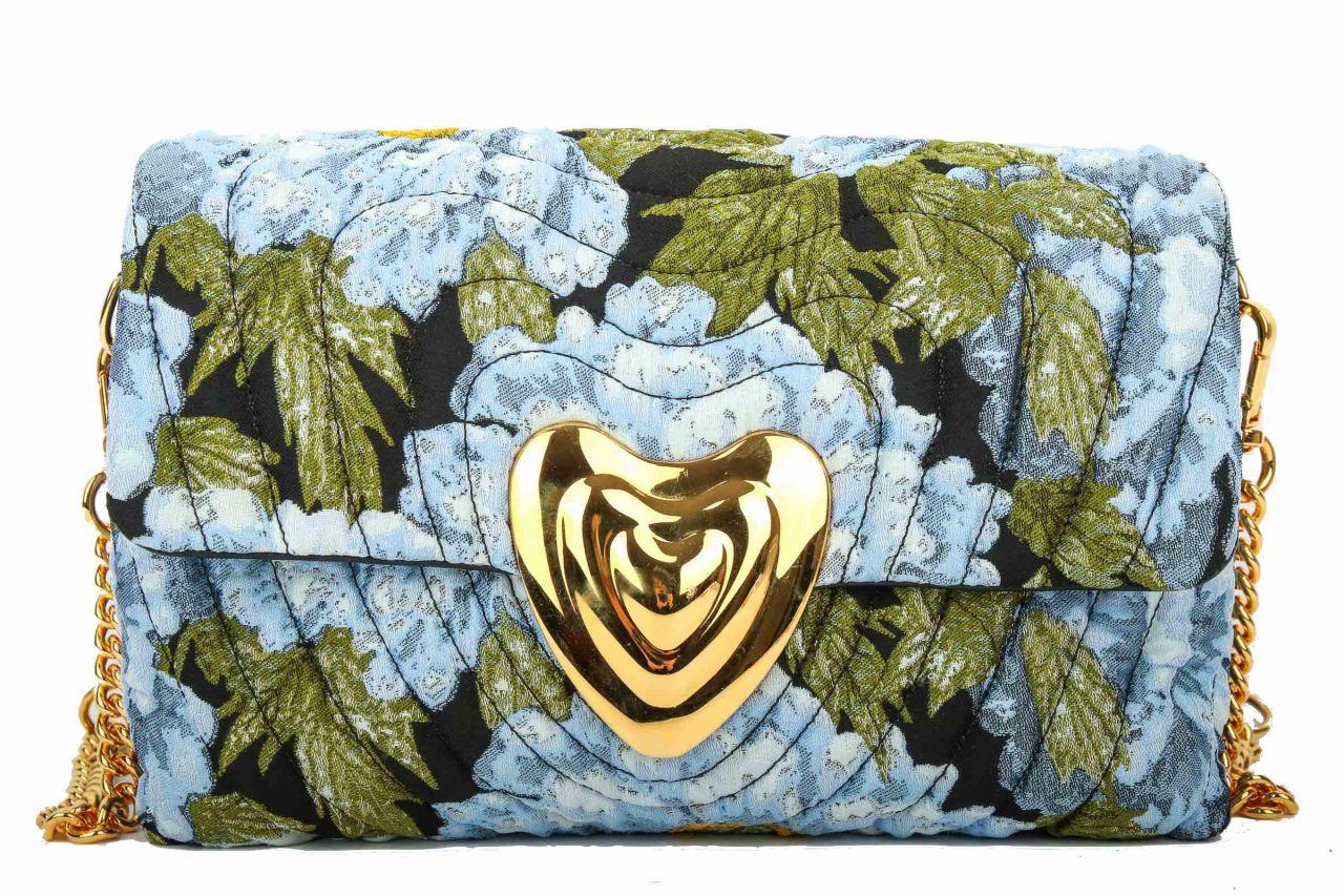 Escada gesteppte Heart Bag aus Blumenmuster