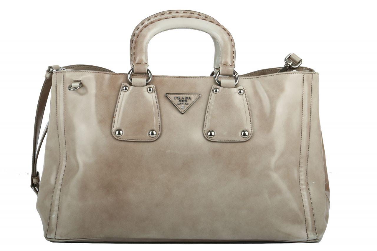 Prada Bag Vitello Shine Grau
