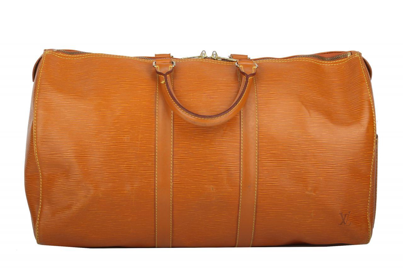 Louis Vuitton Keepall 50 Epi Leder Camel