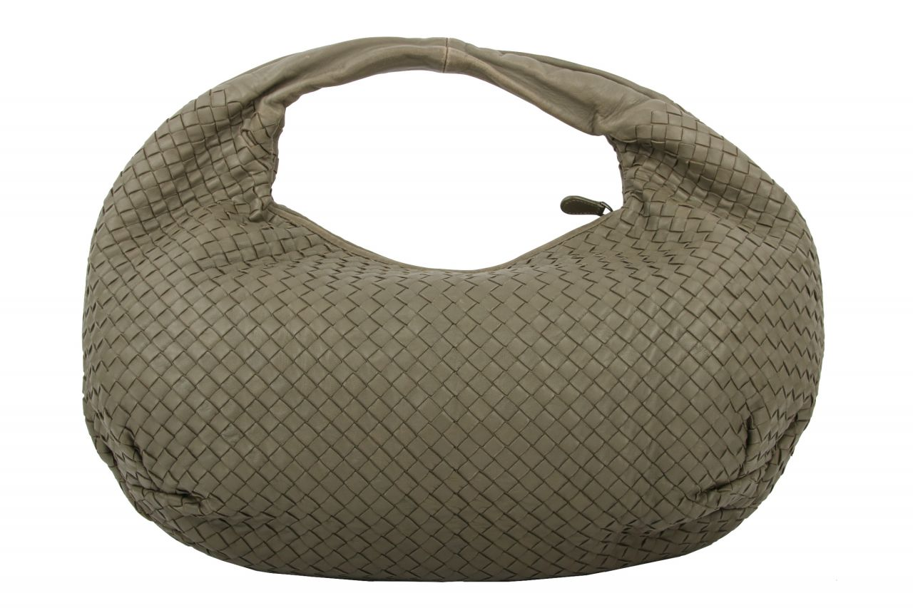 Bottega Veneta Nappaleder Intrecciato Medium Grey