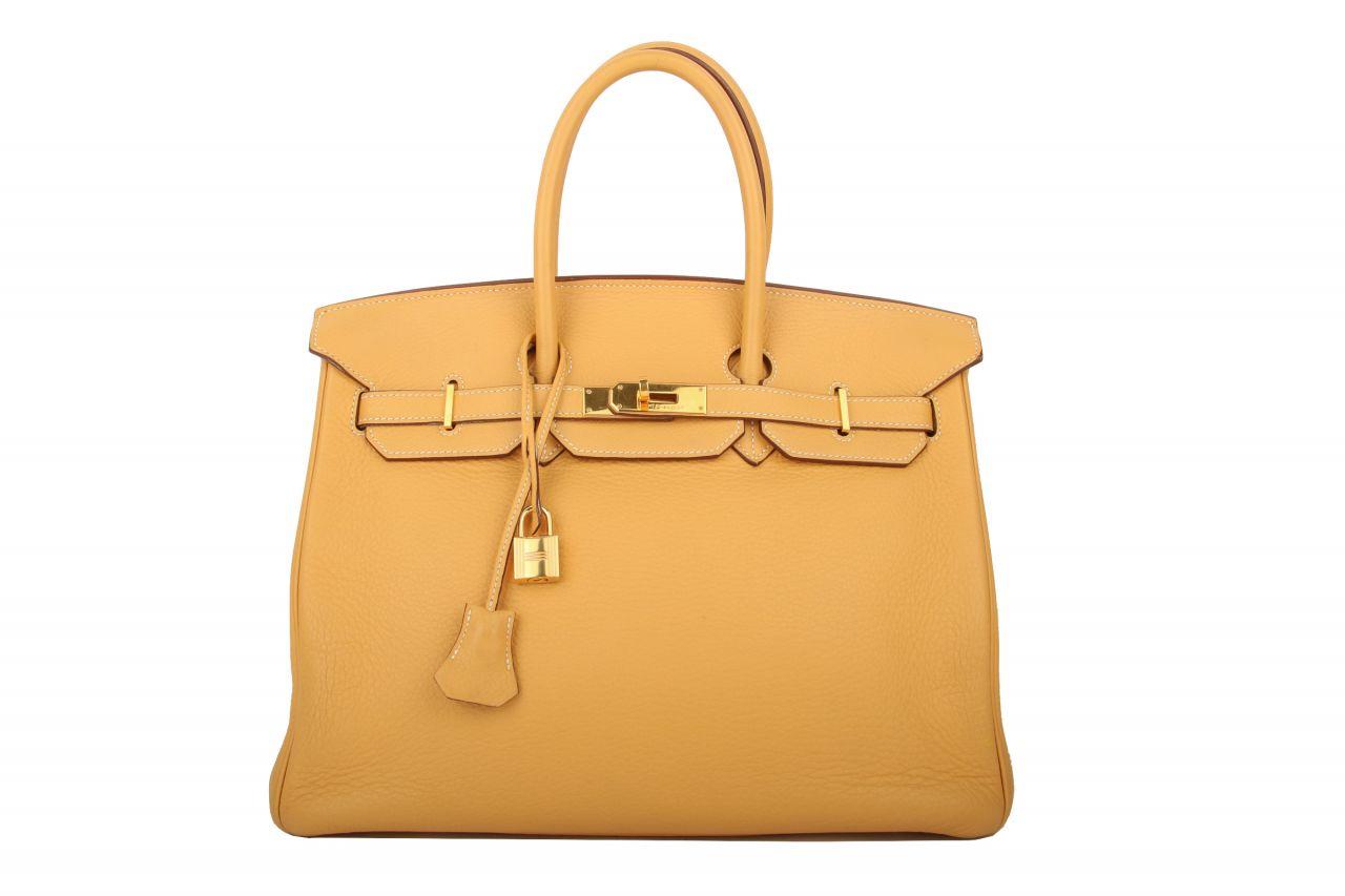 Hermès Birkin 35 Mustard Clemence Bijou Ore