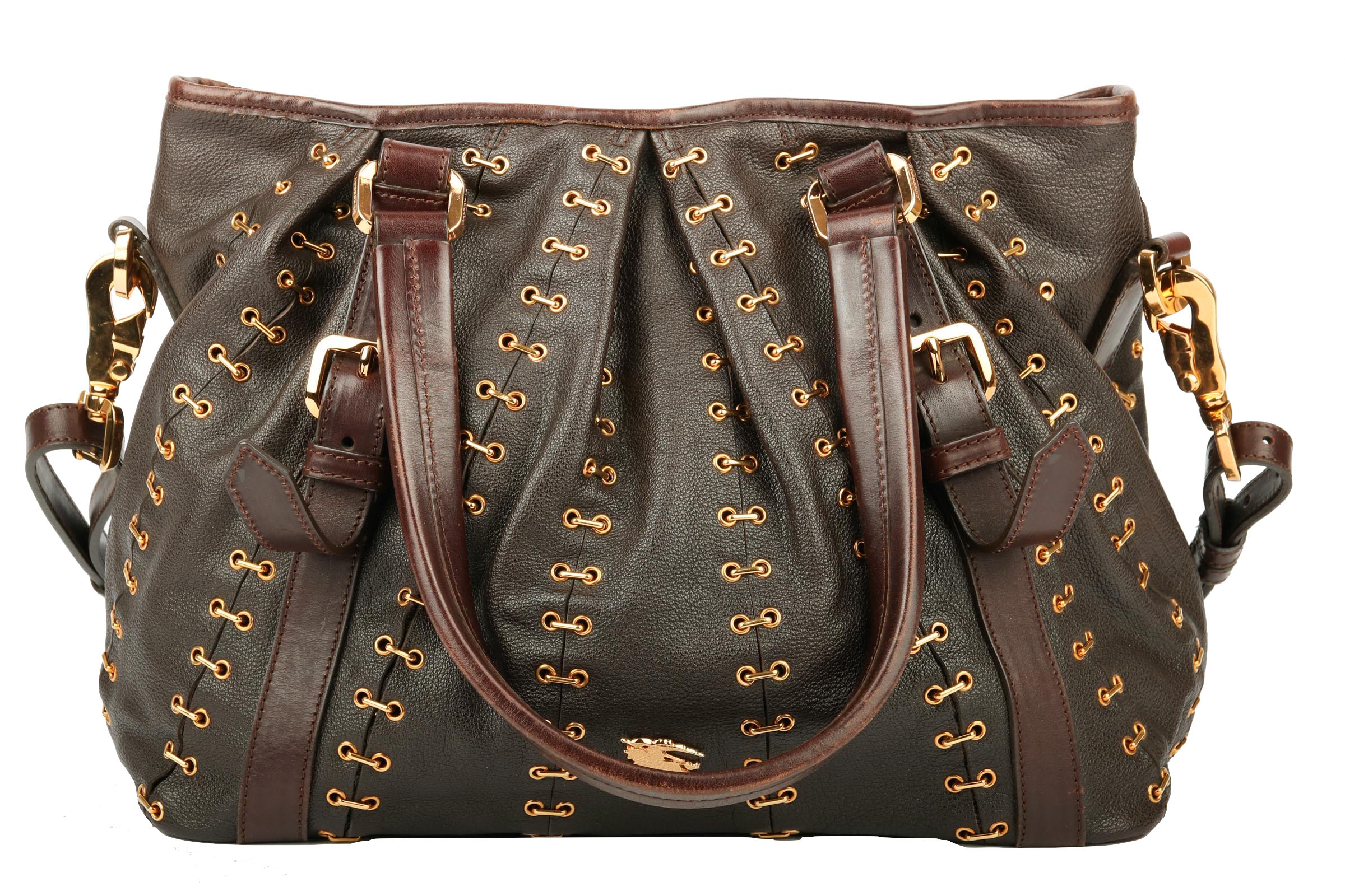 6bd7bf34817a2 Burberry Stitched Lowry Tote Braun