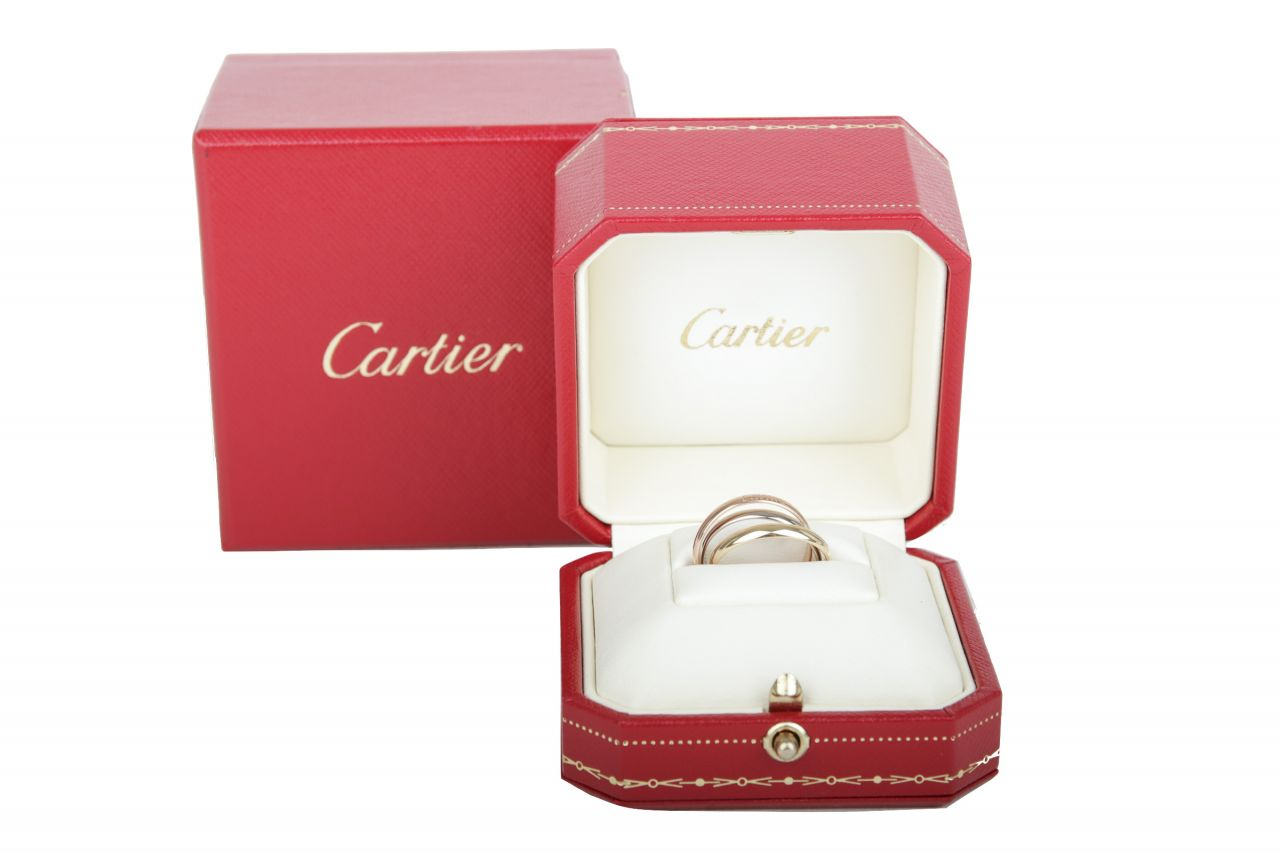 Cartier Trinity Ring Gr. 51 Weiß-, Rot- & Gelbgold