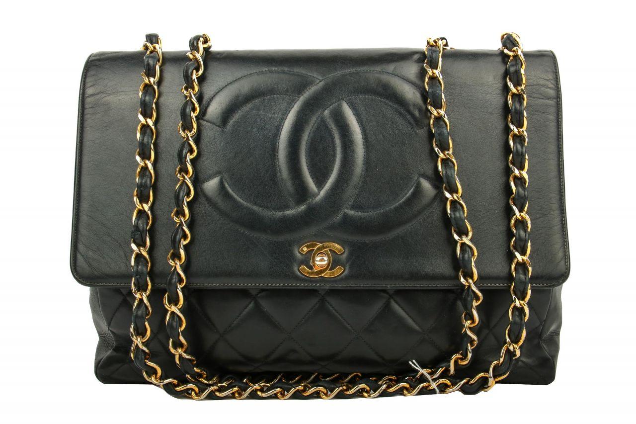 Chanel Easy Flap Bag Black