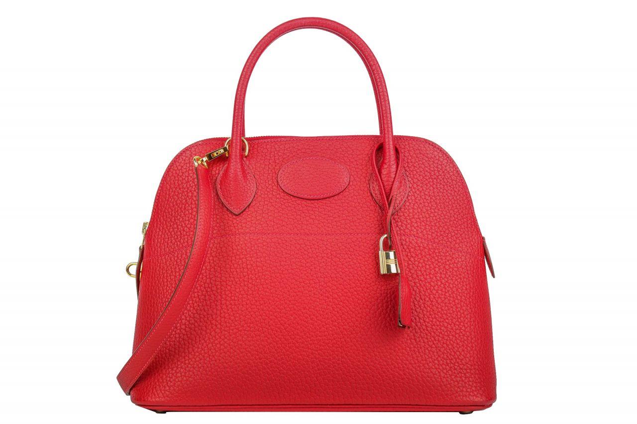 Hermès Bolide 31 Clemence Rot mit Schulterriemen