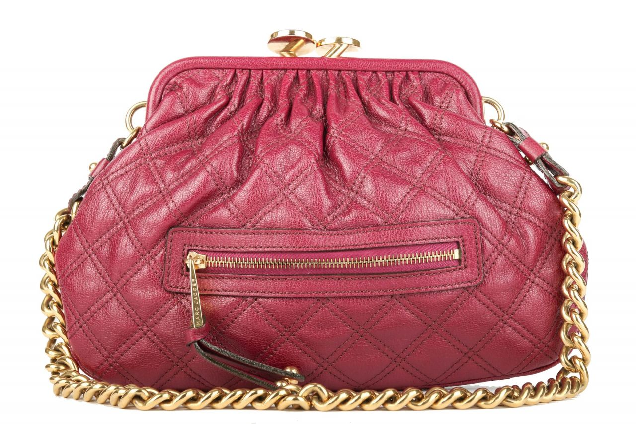 Marc Jacobs Quilted Little Stam Bag Poppy Lila