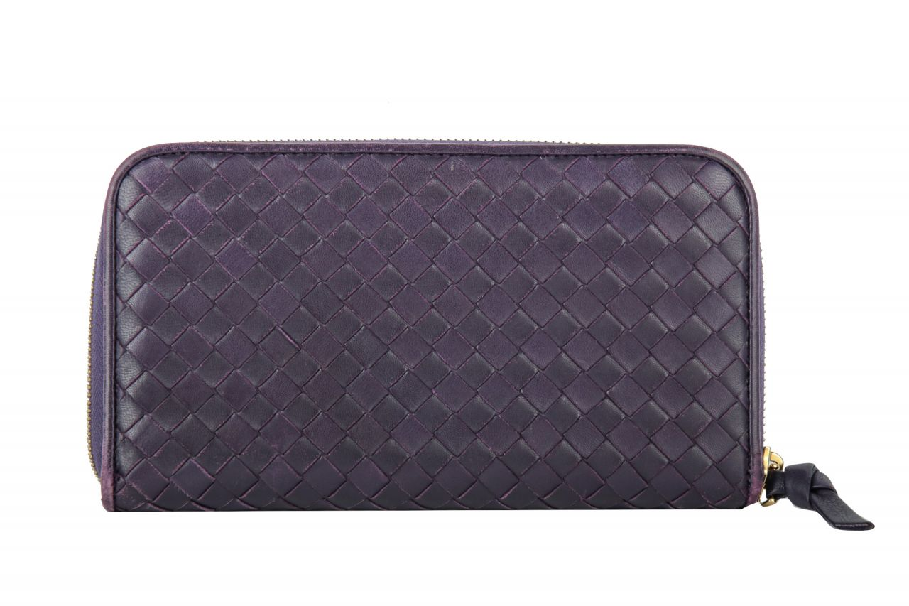 Bottega Veneta Intrecciato Wallet Purple