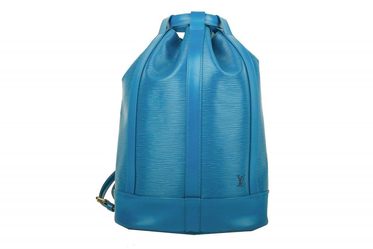 Louis Vuitton Randonnée Epi Leder Blau