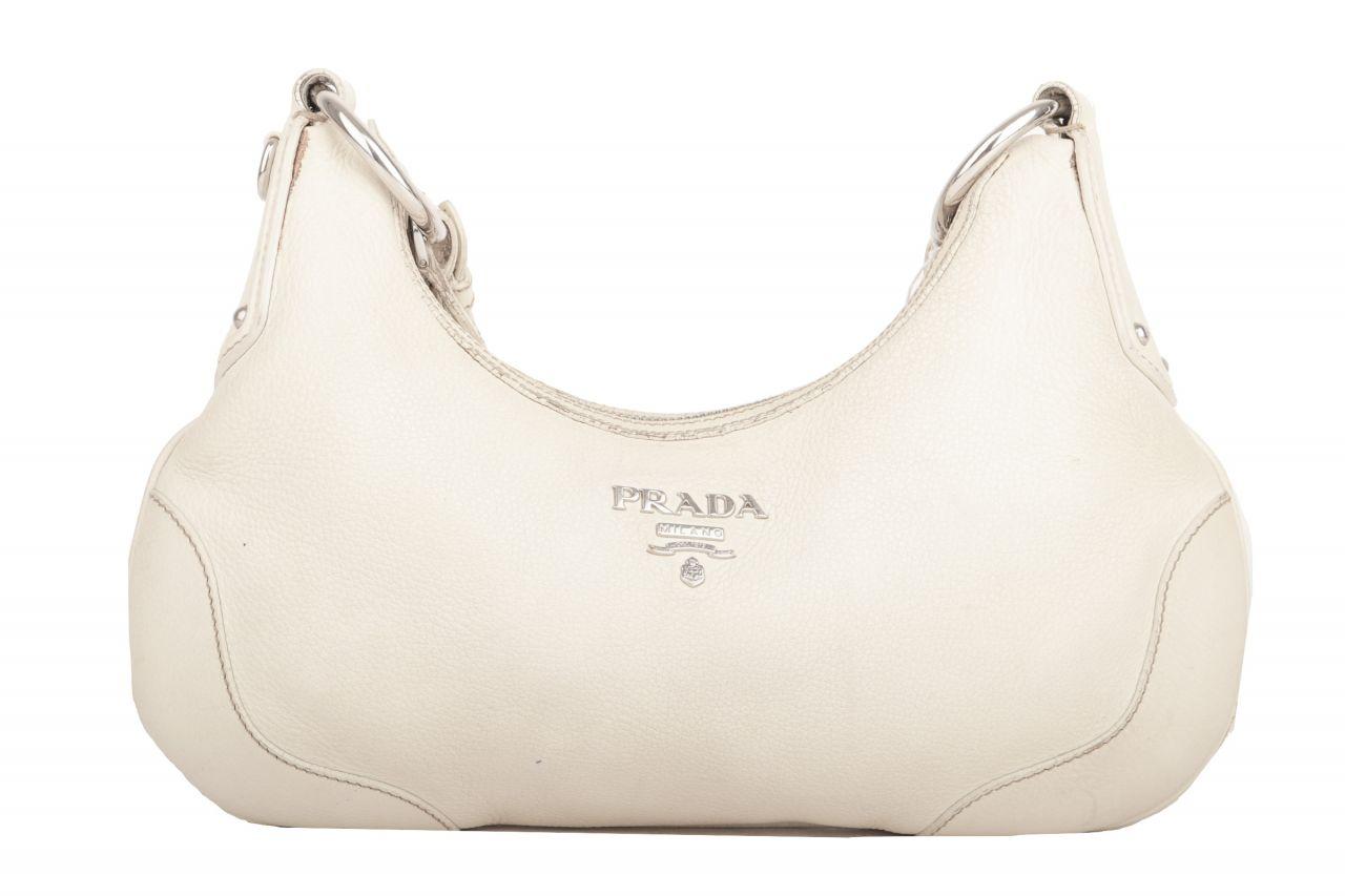 Prada Shoulder Bag Vitello Daino Beige