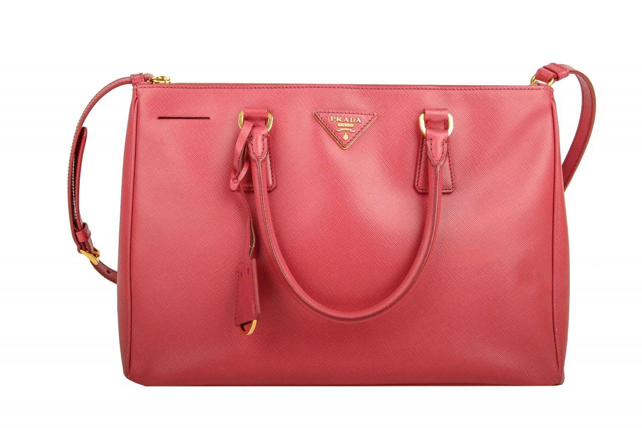 Prada Galleria Bag Saffiano Pink mit Schulterriemen