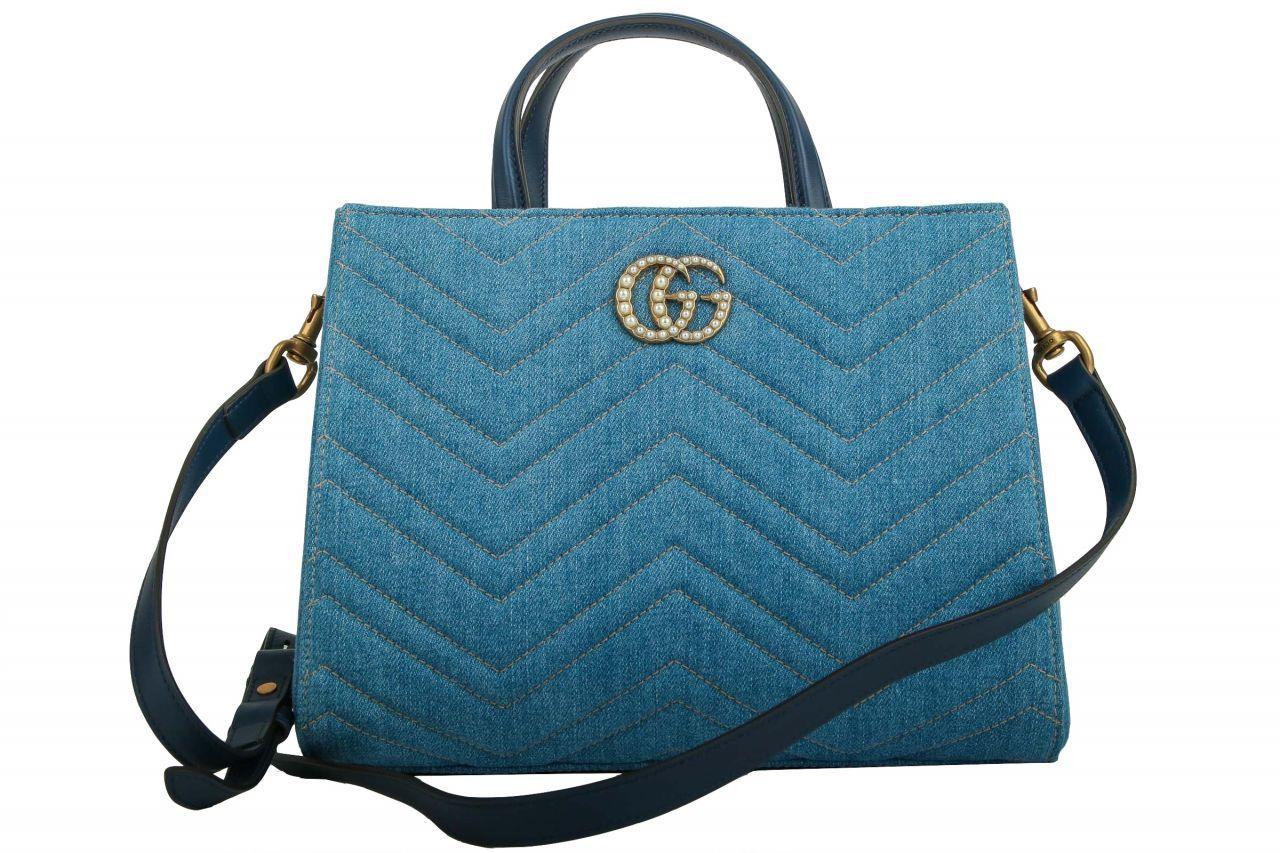 Gucci Marmont Denim Shopper