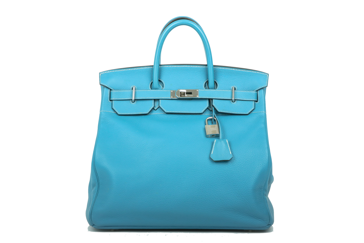 3cf44b724ed Hermès Birkin HAC 40 Blue Jean Clemence leather | Luxussachen.com