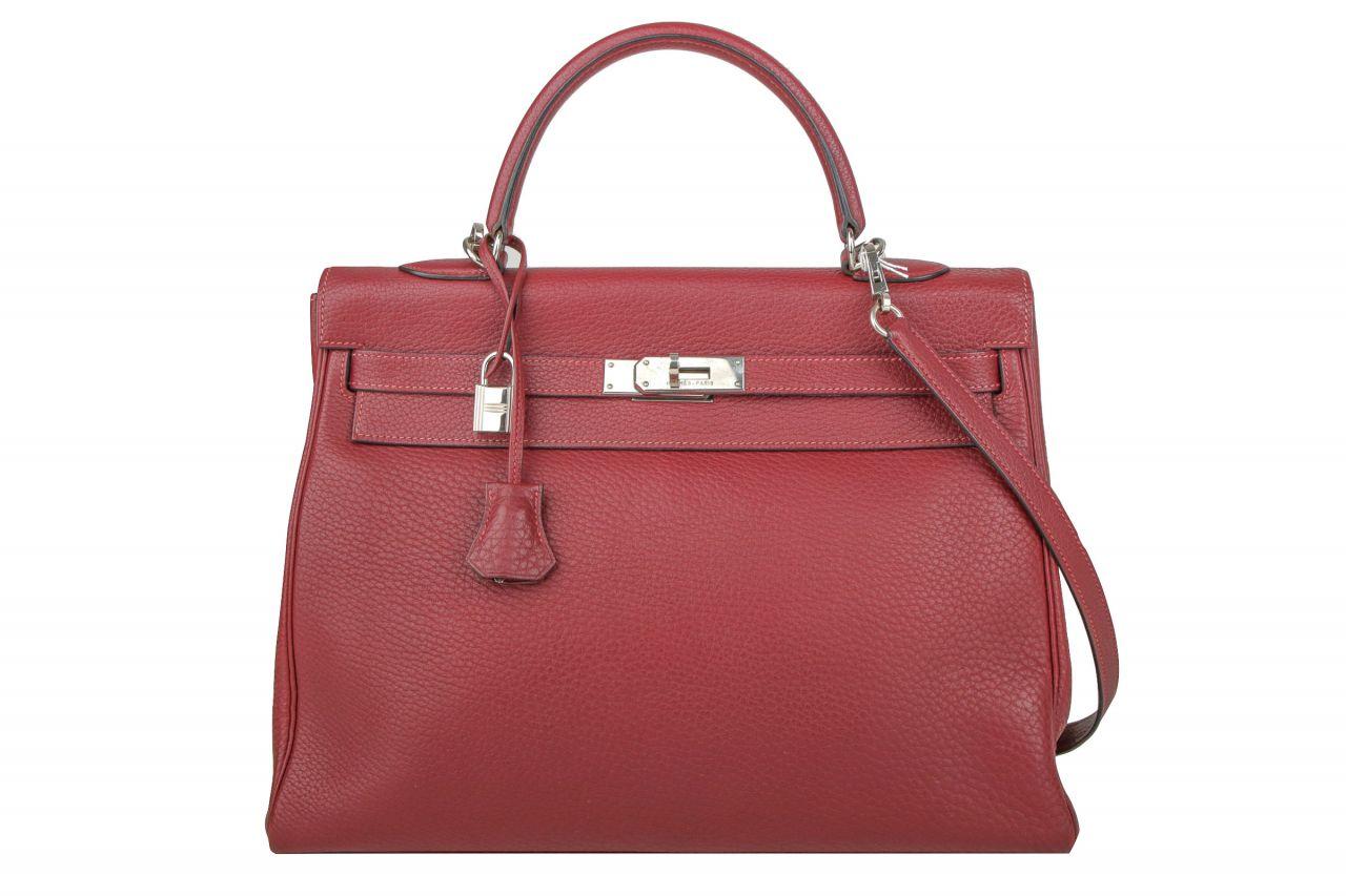 Hermès Kelly Bag 35 Rouge Ash Clemence