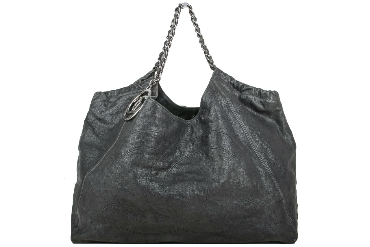 Chanel Shopper Kaviar Leather Black