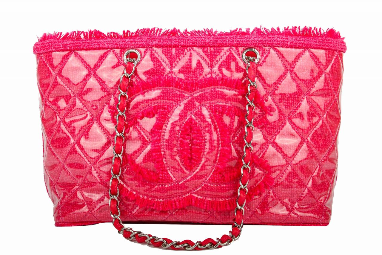 Chanel Shopper Pink Tweed