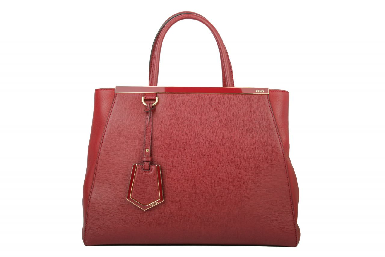 Fendi 2 Jours Medium Rot
