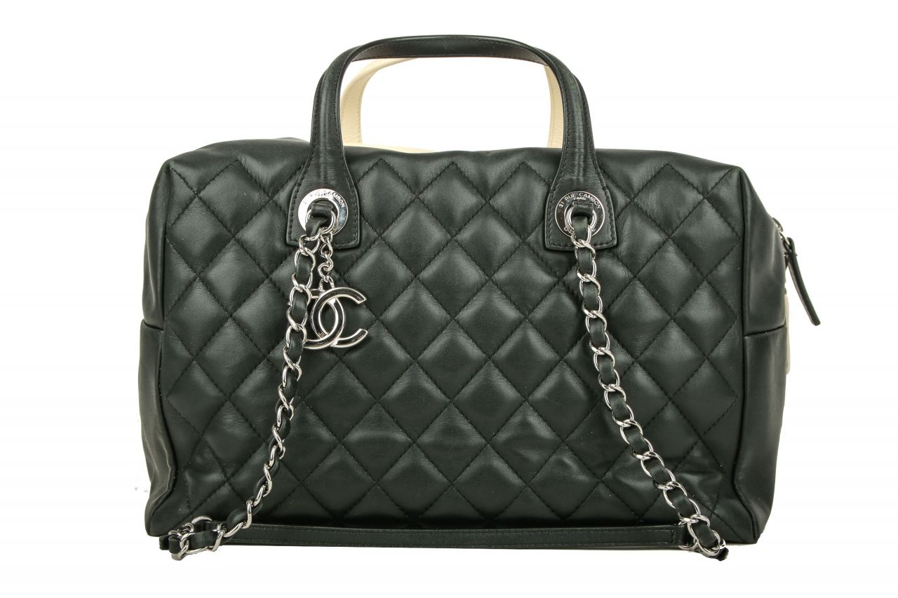 Chanel Tote Bag Schwarz Creme