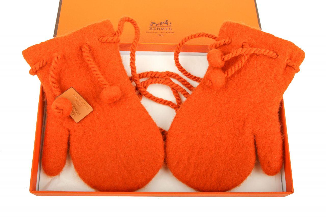 Hermès Fäustlinge Orange