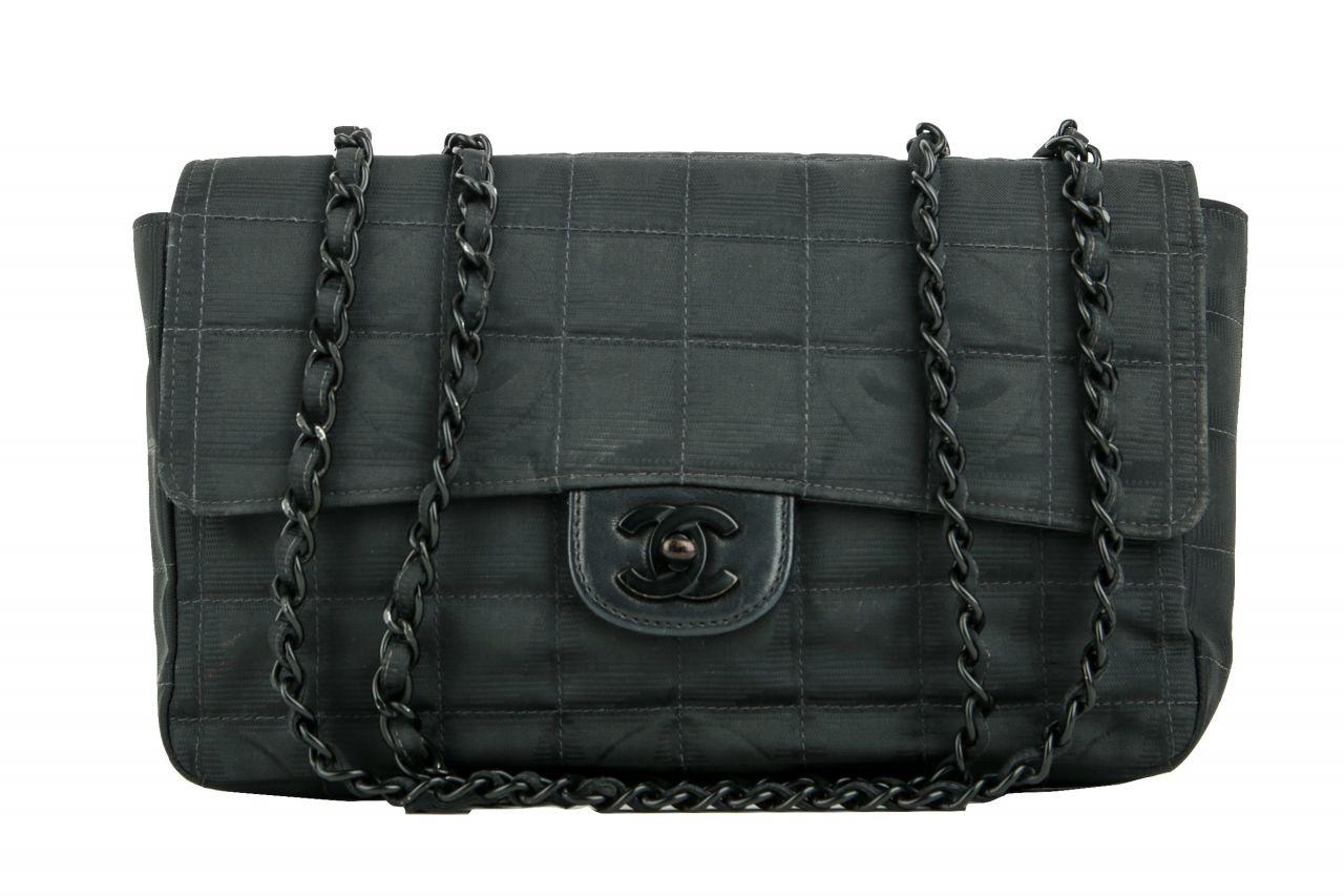 Chanel New Travel Line Chain Tasche Schwarz